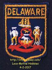 LMH PATCH Badge  DELAWARE Flag Seal Crest Emblem  DE Coat Arms COA State Ship