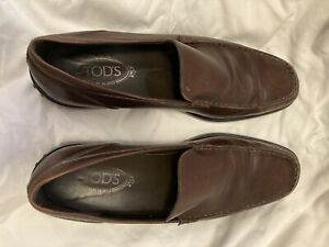 tods mens shoes brown size 9 US size 10 Great condition!