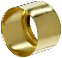 """Pack of 5 - Brass Hose Ferrules 0.725"""" 18.4mm Diam x H 0.5"""" 14mm #23B202"""