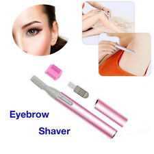 Shell Aluminum Electric Eyebrow Shaver Razor Trimmer Shaper Legs Hair Remover UK