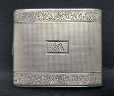 Vintage Germany Feinsilber Auflage Kraft Alpacca Silver 1930's Cigarettes Case
