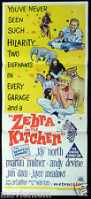ZEBRA IN THE KITCHEN Jay North VINTAGE Original Daybill Movie Poster
