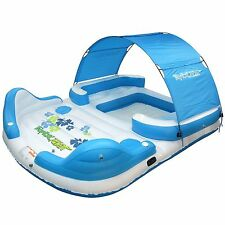 NEW Tropical Tahiti Canopy Inflatable Raft Pool Lake Ocean Floating Island L@@K