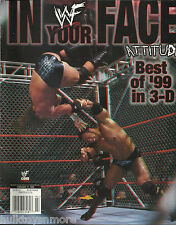 WWF Wrestling Magazine In Your Face Attitude Best of '99 in 3D 1999 WWE