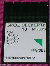 Groz Beckert Máquina De Coser Industrial Bolígrafo Agujas 134r Tamaño 8/60