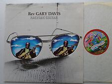 Rev Gary DAVIS Ragtime guitar - UK Orig LP TRANSATLANTIC TRA 244 (A1/B1)