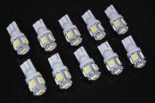 USA SELLER 10pcs Xenon White T10 Wedge 5-SMD 5050 LED Light bulbs 194 168 2825