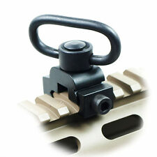 Quick Release Detach QD Sling Swivel Attachment w/ 20mm Picatinny Rail Mount