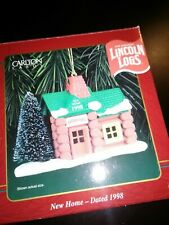 Carlton Cards Lincoln Logs Cabin Christmas Ornament New Home 1998