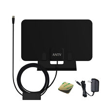 ANTV Indoor Home Amplified Digital Clear HD HDTV TV Antenna 50 Miles UHF VHF FM