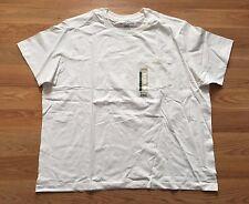 New Mens EDDIE BAUER White Pocket Basic T Shirt Size 3XL XXXL