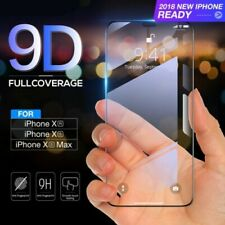 For iPhone X XS MAX XR Full Coverage 9D 5D 9H Tempered Glass Screen Protector