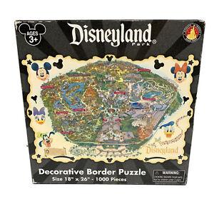 "Disney 1000 Pieces Disneyland Park Decorative Border Puzzle 18"" x 26"" uncounted"