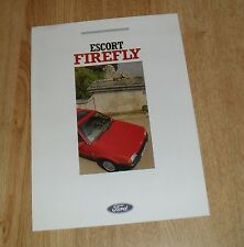 Ford Escort Firefly Special Edition Car Brochure 1988