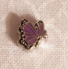 June Butterfly Floating Locket Charm - Silver-tone - NEW