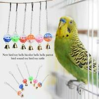 Parrot Toy Bells Bird Toys Rattles Parrot Stand Perches Supplies Pets F0X5