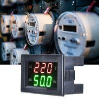 Dual Digital Voltmeter Gauge LED Display AC 80-500V Volt Meter Frequency Meter