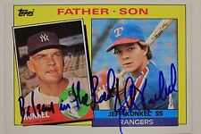 Bil & Jeff Kunkel Father Son Autographed 1985 Topps #136 Signed Card 16L