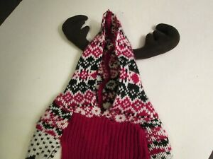 Christmas Doggie Reindeer Knit Sweater by Telluride, Size Ex. Small, NWT