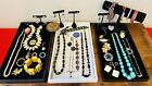 Antique+Vintage+Jewelry+Estate+Costume+Lot+Signed+Crystal+Earrings+Pins+Eclectic
