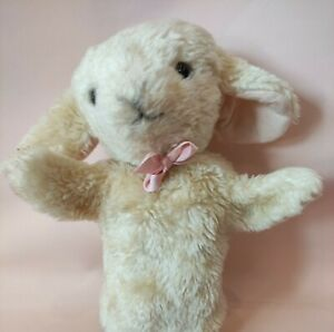 """Merrythought Traditional Lamb /sheep Plush hand puppet 10"""""""