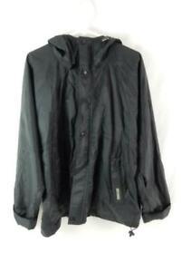 Vintage Helly Hansen Black Windbreaker Jacket Men's Size M Hooded