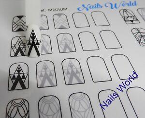 Training Mats for Nail Technican GEOMETRIC nail art brush liner paint gel