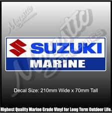 SUZUKI MARINE - 210mm x 70mm - BOAT DECAL