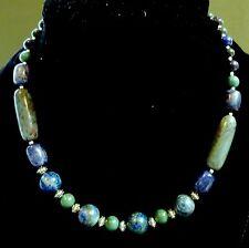 Men's Lapis Chrysocola Turquoise Necklace Original by Helena Poortvliet