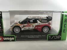 BURAGO 11525 2013 Citroen Total World Rally Team seb Loeb 1/32 NEW & BOXED