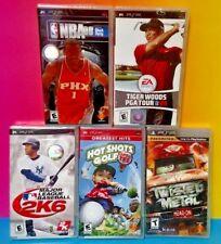 5 NEW Sport Games Sony PSP Playstation Portable MLB Golf NBA Twisted Metal Tiger