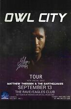 Owl City Autographed Concert Poster