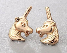 GOLD UNICORN, HORSE STUD EARRINGS