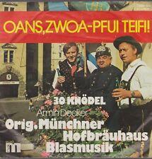 "7"" Vinyl Armin Decker Münchner Hofbräuhaus Blasmusik Oans, zwoa-Pfui Teifi!"