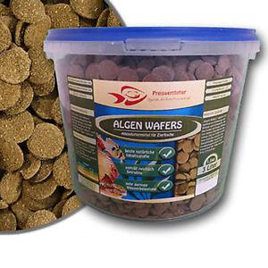 Algen Wafers 3 Liter Eimer 1,5 kg Futter Welsfutter Fischfutter Spirulina