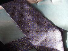 Tie Rack 100% Seda Tie-Azul con Tira Bite &