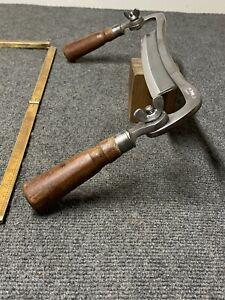 "Vintsge Pexto 8"" Folding Draw Knife  Curved Spine Razor Sharp Ready To Work"