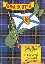 Greetings from Nova Scotia Canada Postcard 1986 Tartan