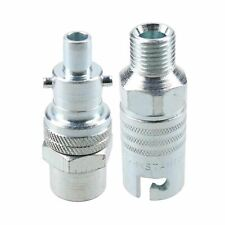 """PCL Instant Air Coupler 1/4"""" BSP Male Thread & Male Adaptor Fitting Swivel Body"""