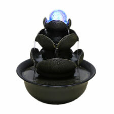 Desktop Resin Lotus Indoor Fountains Feature Water Humidifier Home Decoration