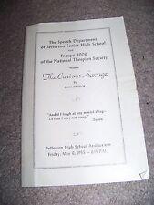 1955 Jefferson Senior High School Roanoke Virginia National Thespian Society