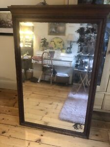 Large Antique Over Mantle  Mirror
