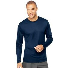 Hanes 482L Cool Dri Long Sleeve Performance T-shirt XL Navy