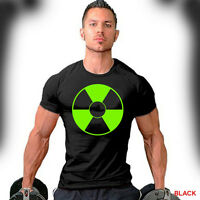 Biohazard Logo T-Shirt Workout Sport Gym Bodybuilding Weight Training