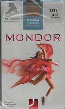 MONDOR 3338  Evolution Over The Boot Ice-Skating Tights Girl's Size 4-6 Suntan