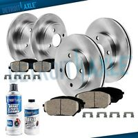 1993 1994 1995 1996-2001 for Nissan Altima Front Rear Brake Rotors + Ceramic Pad