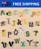 Kids Animal Alphabet Letter A-Z Embroidered Patches Embroidery Patch Iron Sew On