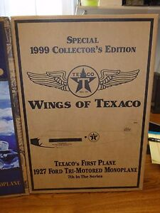 Collector Edition GOLD TEXACO AIRPLANE BANK - 1927 FORD TRI-MOTORED MONOPLANE #7