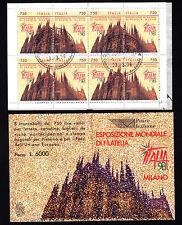 ITALIA 1996 LIBRETTO ESPOSIZIONE MONDIALE FILATELIA ITALIA '98  USATO  (64