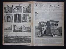 1892 LUGO CORREGGIO Le Cento Città d'Italia Sonzogno Editore illustrato